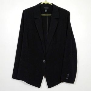 Lane Bryant black modern low/high blazer